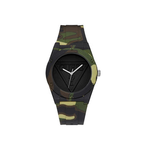Guess Watch Green Camouflage With Green Logo Dial