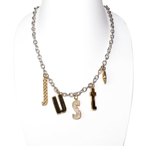 Just Cavalli Necklace With Just Logo