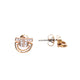 Just Cavalli Earring Ip Rose Gold With C Braided Style & Stone
