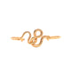 Just Cavalli Bangle Ip Rose Gold Open Style With Snake Design