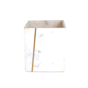 J.Queen New York Mont Waste Basket Blanc