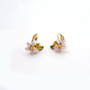 Les Nereides Orange Blossom Clip-On Earrings
