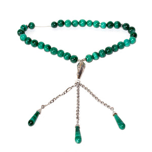 Ouzounian Rosary Silver 925 with Malachite