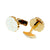 Roberto Cavalli Cufflinks Ip Gold With White Design