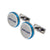 Roberto Cavalli Cufflinks Silver Color & Blue Combination