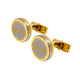 Roberto Cavalli Cufflinks Ip Gold & Silver Color Combination
