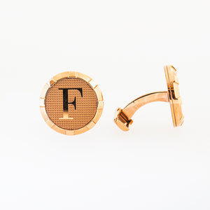 Ferre Milano Cufflinksrosegold Color With Logo In The Mid
