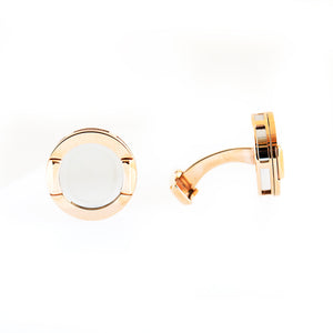 Ferre Milano Cufflinks Ip Rose Gold With Silver Color Face