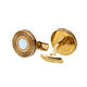Smalto Cufflinks Ip Rosegold With Mother Of Pearl Design