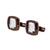 Smalto Cufflinks Bronze With Crystal Stone Face Design