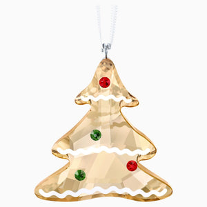 Swarovski Gingerbread Tree Ornament Brown