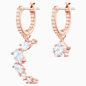 Swarovski Moonsun Hoop Earrings White