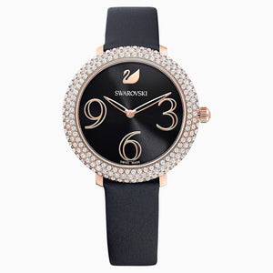 Swarovski Crystal Frost Watch Black