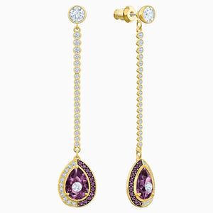 Swarovski Baroque Drop Earrings Purple