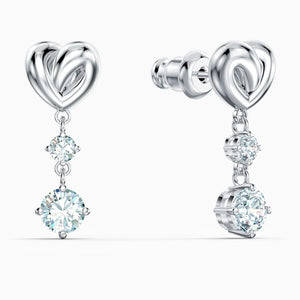 Swarovski Lifelong Heart Drop Earrings White
