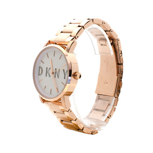 DKNY Gold Plated Analog Watch With Metal Bracelet
