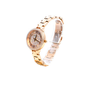 Michael Kors Women's Allie Three-Hand Rose Gold-Tone Stainless Steel Watch