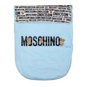 Moschino Blue Cotton Teddy Nest