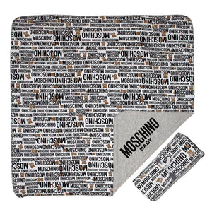 Moschino White Logo Blanket