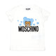 Moschino Ivory Cotton Logo T-Shirt
