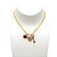 Armani Ladies Necklace Sterling Silver With Zircon & Rosegold Color/ Triple Pendant