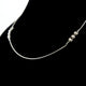 Armani Ladies Necklace Sterling Silver With Zircon & Mesh Style Chain