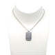 Armani Men's Necklace Ss, Pendant With Combination Of Steel & Black Rubber