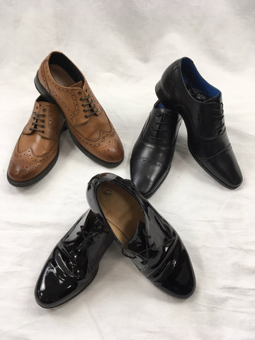 Hire Brown and Black Shoes