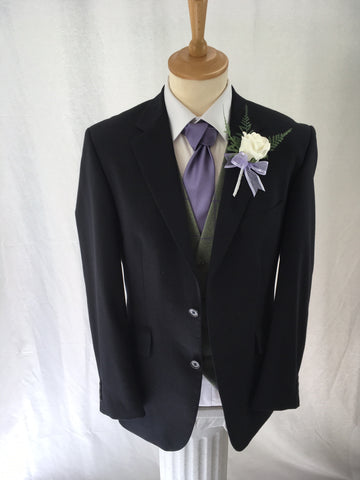 Hire Navy Suit with Tweed Waistcoat