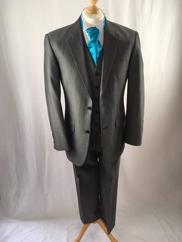 Hire Silver Three Piece Lounge Suit