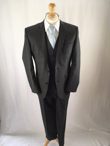 Hire Slim Fit Charcoal Three Piece Suit