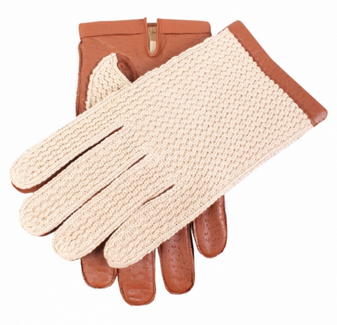 Dents Men's Warm Lined Crochet Back Driving Gloves