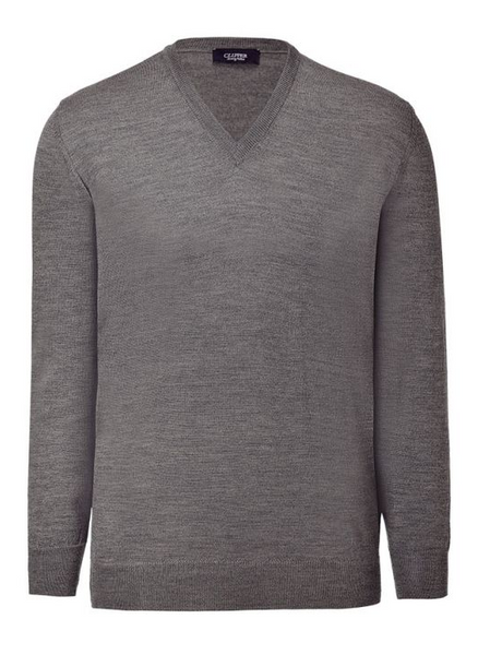 Clipper V Neck Merino Pullover
