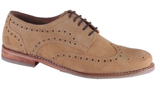 Chatham Arden Tan Suede Brogue