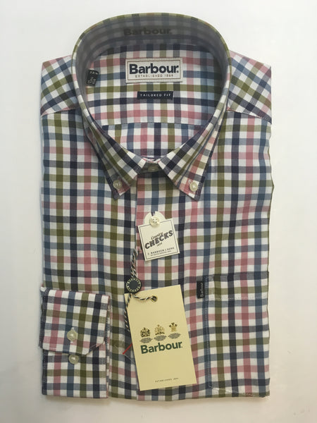 Barbour Stapleton Dusty Pink Check Shirt