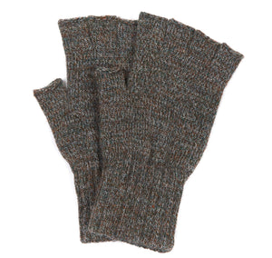 Barbour Olive Fingerless Gloves