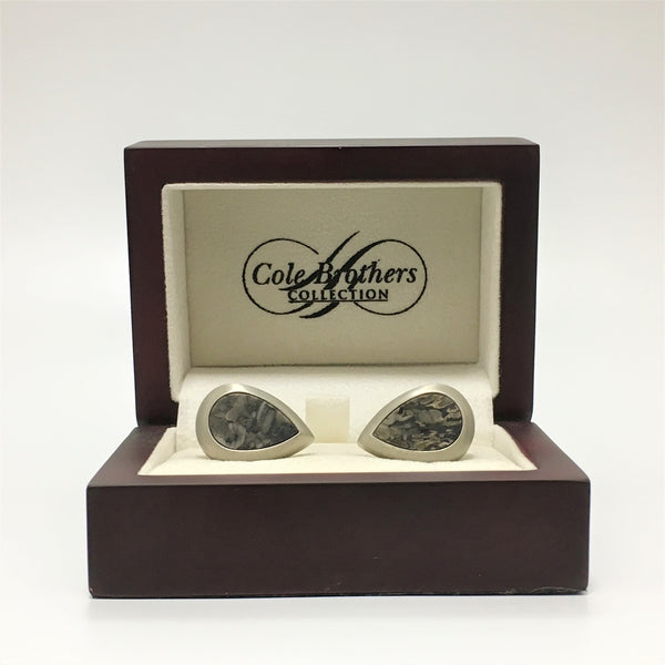 Cole Brothers Granite Droplet Cufflink