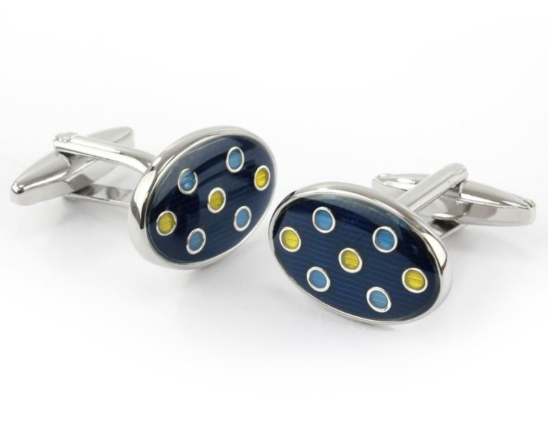 Oval Dot Cufflinks