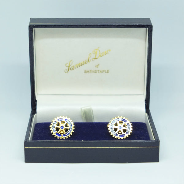 Rotary International Cufflinks in Samuel Daw & Co Box