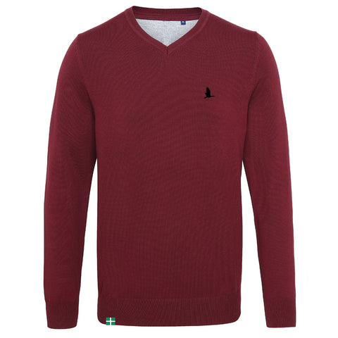 Daw's Clothing Co. Burgundy V-Neck Sweater