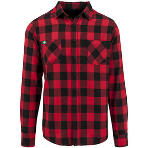 Daw's Clothing Co. Red and Black Checked Flannel Shirt