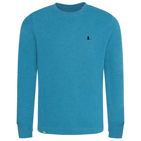 Daw's Clothing Co. Sea Blue Organic 'Croyde' Crew Neck Sweatshirt