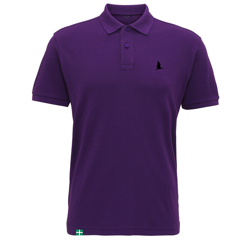 Daw's Clothing Co. Purple Smooth Knit Polo