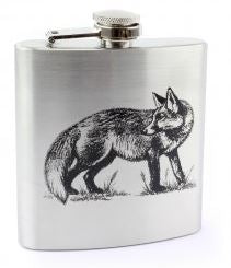 Silver Novelty Country Hip Flask