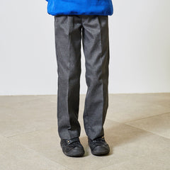 David Luke Elasticated Waist Black School Trousers