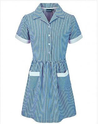 Girls Summer Striped School Dresses