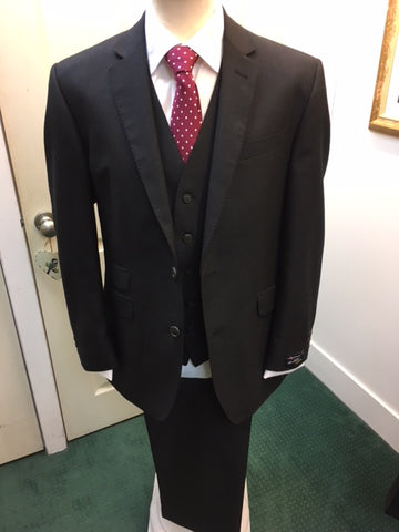 The Label Charcoal 100% Wool Suit