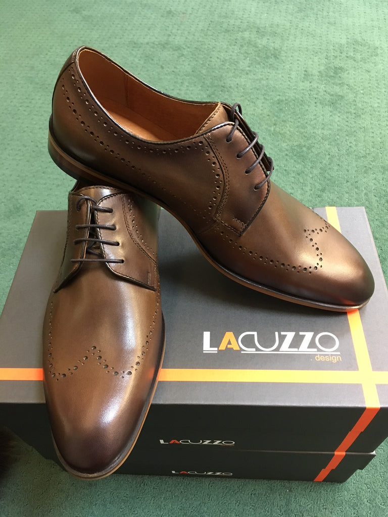 Long Wing Chestnut Brogue by Lacuzzo