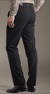 Meyer 'Roma' Black Trousers