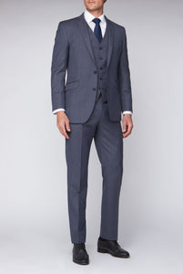Mix & Match Blue Sharkskin full three piece suit